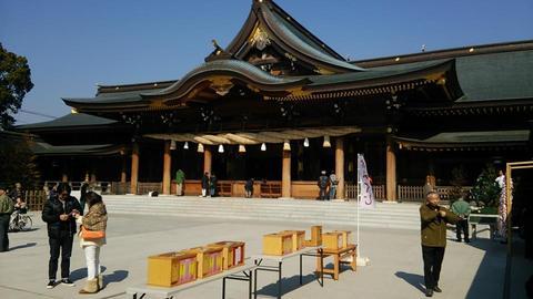 寒川神社でお祓い